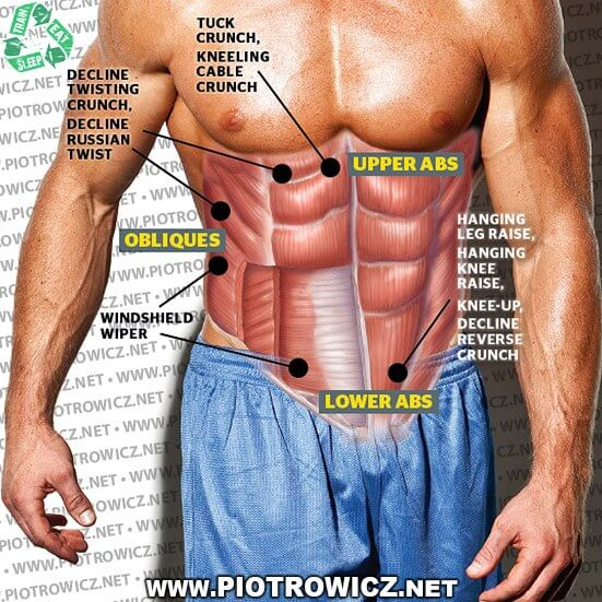 Sixpack Muscle Workouts - Lower Upper Abs Healthy Fitness Gym