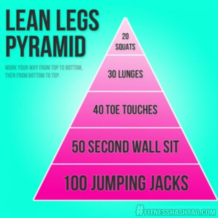 Lean Legs Pyramid Workout - Healthy Fitness Squats Lunges Jump