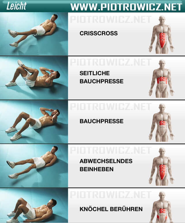 Men Sixpack Workout EASY - Healthy Fitness Exercise Abs Crunch