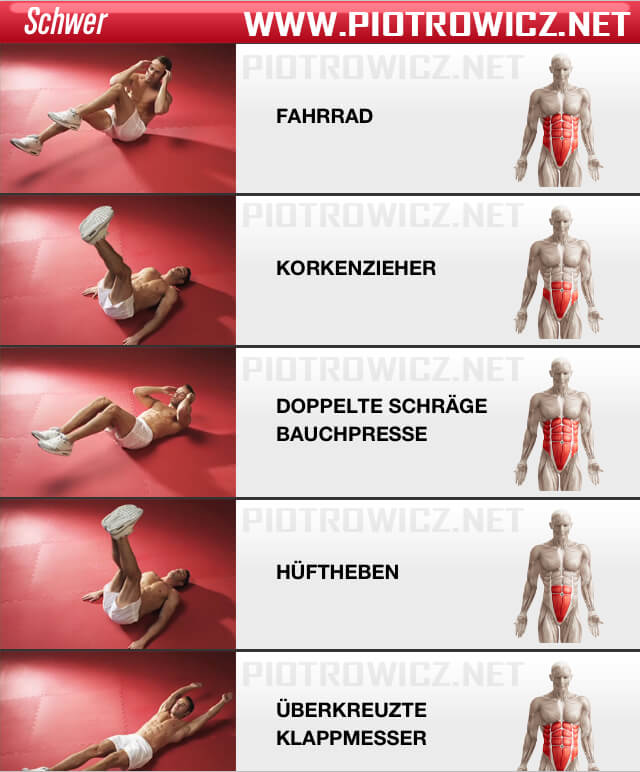 Men Sixpack Workout HARD - Healthy Fitness Exercise Abs Crunch