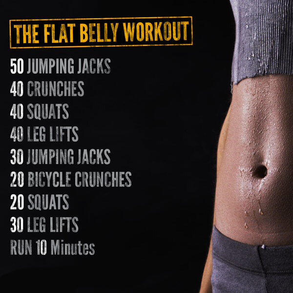 The Flat Belly Workout - Healthy Fitness Sixpack Gym Crunch Abs