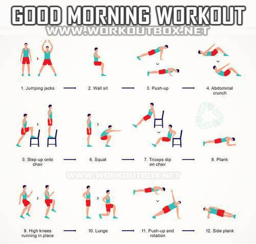 Good Morning Workout - Healthy Fitness Sixpack Step-Up Full Body