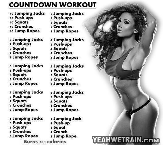 Countdown Workout - Sexy Body Fitness Healthy Sixpack Abs Butt
