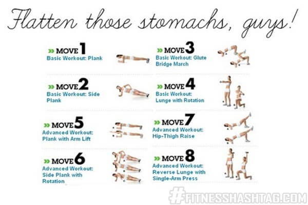 Flatten those stomachs guys - Fitness Workout Butt Sixpack Legs
