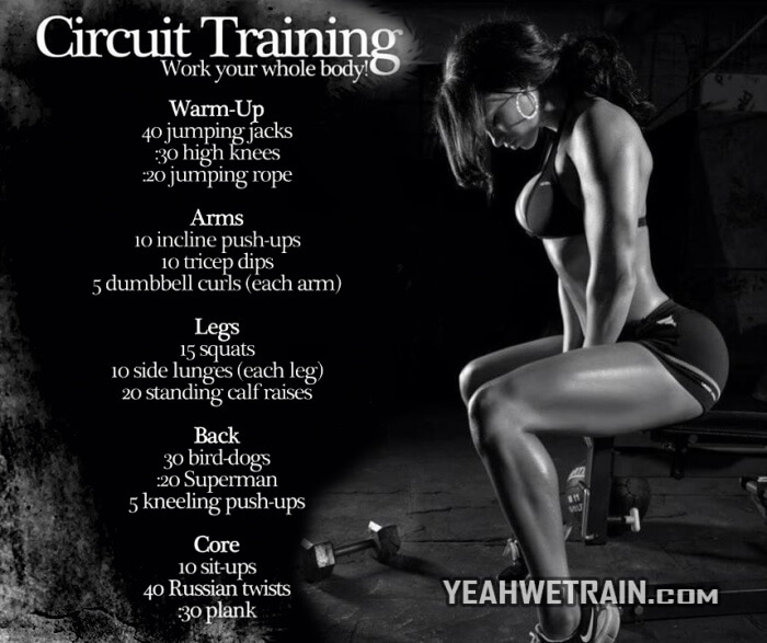 Circuit Training - Healthy Fitness Workout Sexy Body Sixpack Arm