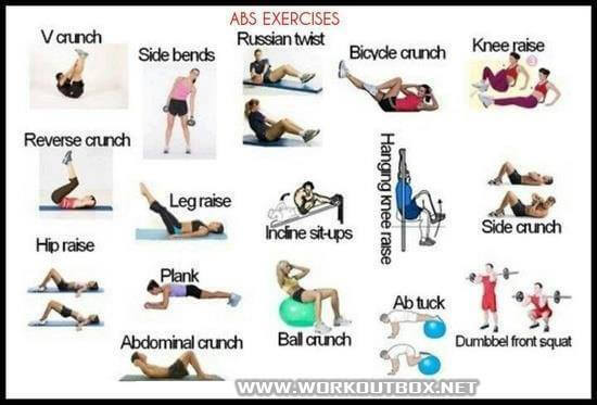 fitness exercise workouts Abs Exercises Healthy