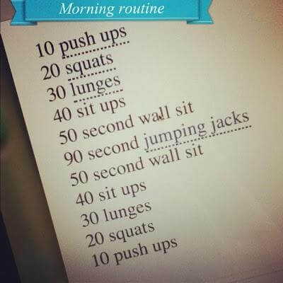 Morning Routine - Healthy Fitness Workout Sexy Body Sixpack