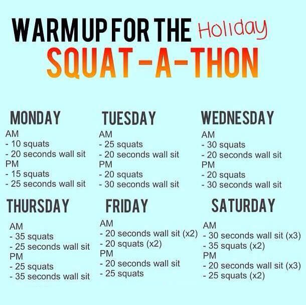 Warmup For The Holiday Squat-A-Thon - Healthy Fitness Workout Ab