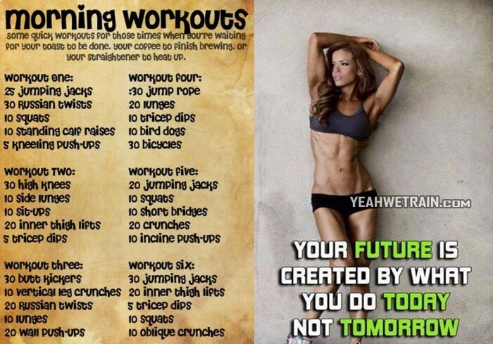 Morning Workouts - Helahty Motivation Full Body Training Abs Leg