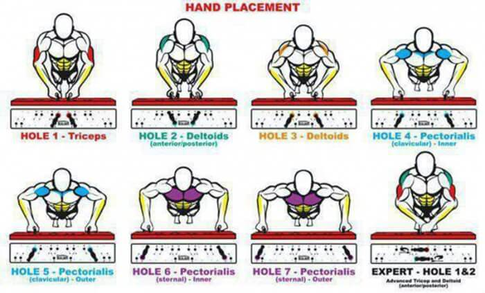 Push Up Hand Placement - Best Chest Tricep, Bicep, Abs Training