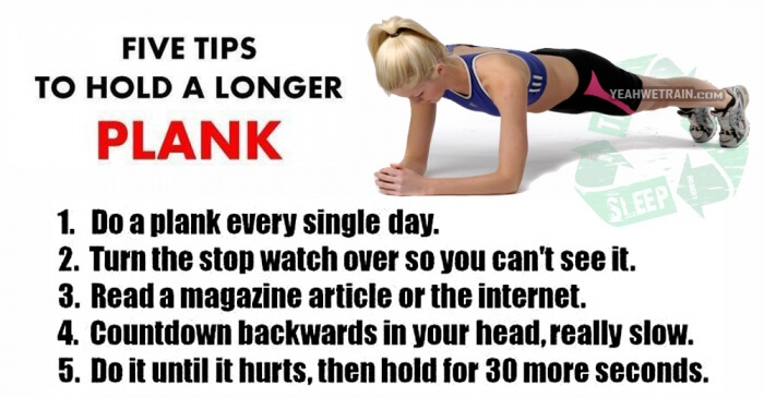 Five Tips To Hold A Longer PLANK - Fitness Healthy Workouts Abs