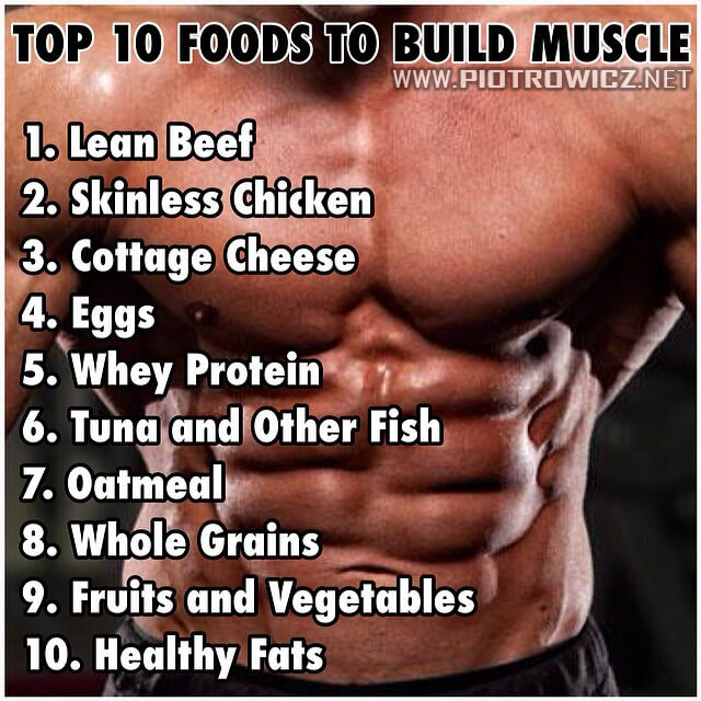 Top 10 Foods To Build Muscle - Healthy Fitness Sixpack Protein