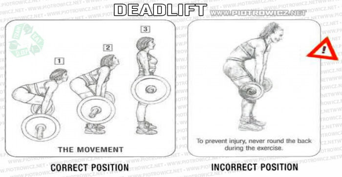 Deadlift Correct VS. Incorrect - Healthy Fitness Workout Back Ab