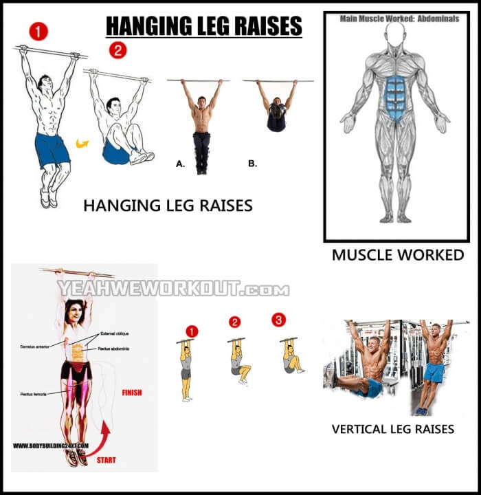 Hanging Leg Raises - Best Workout For Your Sixpack Healthy Arms