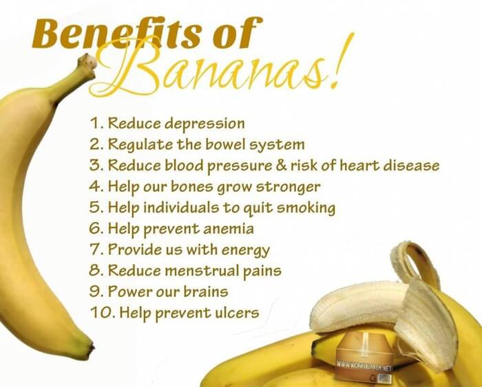 Benefits of Bananas! Healthy Fitness Reduce Depression Power Abs