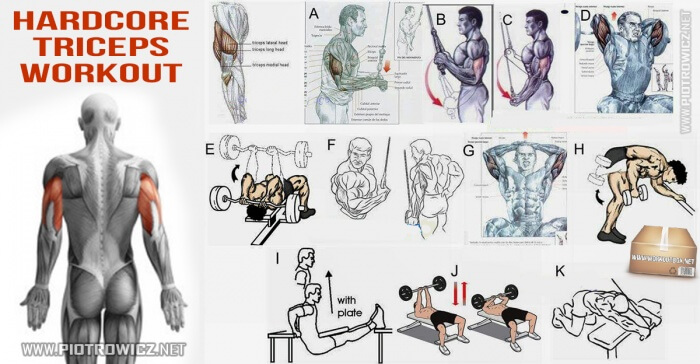 Hardcore Triceps Workout - Healthy Training Arms Core Sixpack Ab