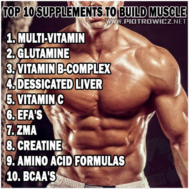 Top 10 Supplements To Build Muscle - Healthy Fitness Training Ab