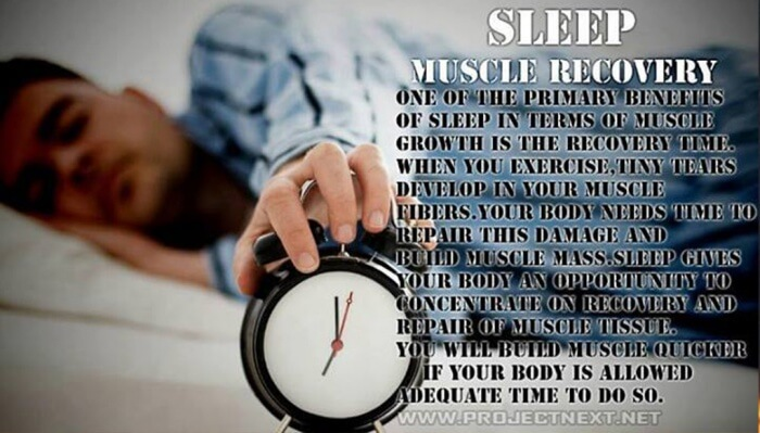 Sleep = Muscle Recovery ! One Of The Primary Benefits Of Sleep