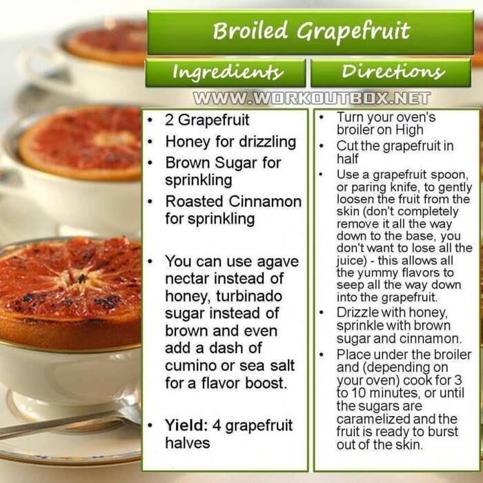 Broiled Grapefruit - Healthy Fitness Recipes Fat Killer Snack Ab