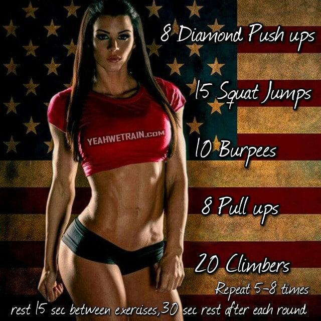 Good Morning America Workout ! Diamond Push-Ups Squats Jump Sexy