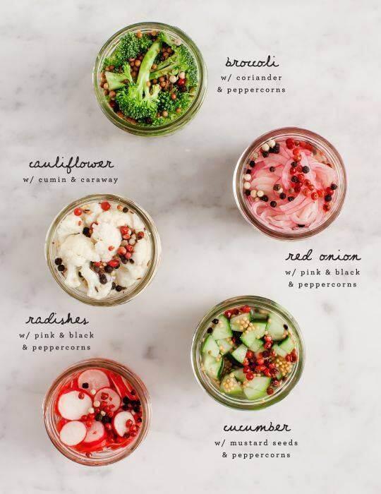Some Delicious Canning Ideas! Broccoli Cauliflower Onion Cucumbe