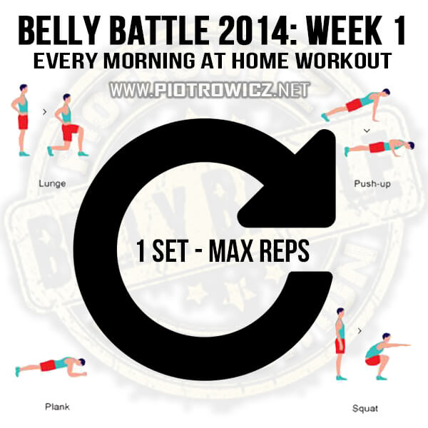 Belly Battle 2014 Week 1 Workout! Every Morning At Home Training