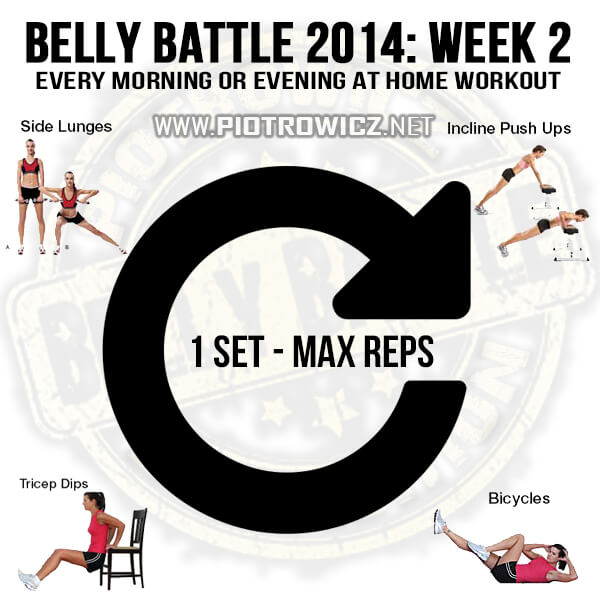 Belly Battle 2014 Week 2 Workout! Every Morning At Home Training