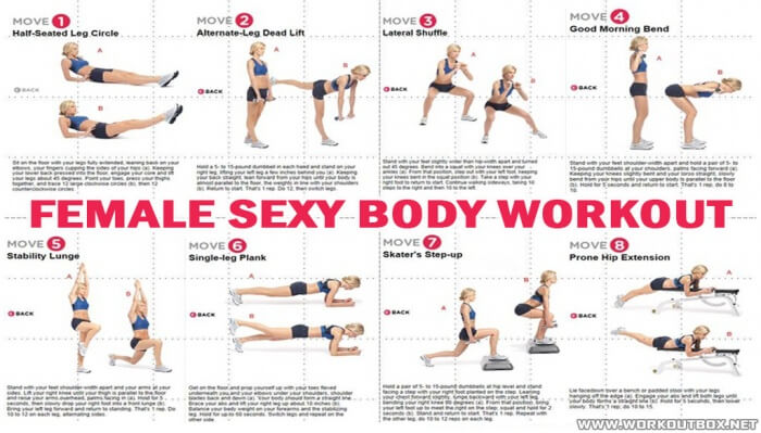Female Sexy Body Workout - Train Your Core Butt Leg Arms Sixpack