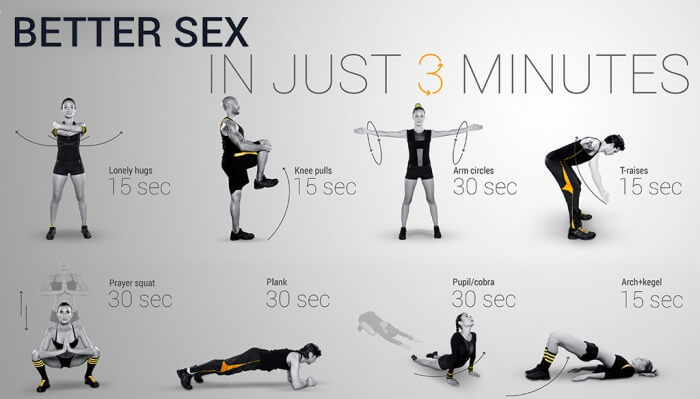 Better Sex In Just 3 Minutes Workout ! Train Your Body For More