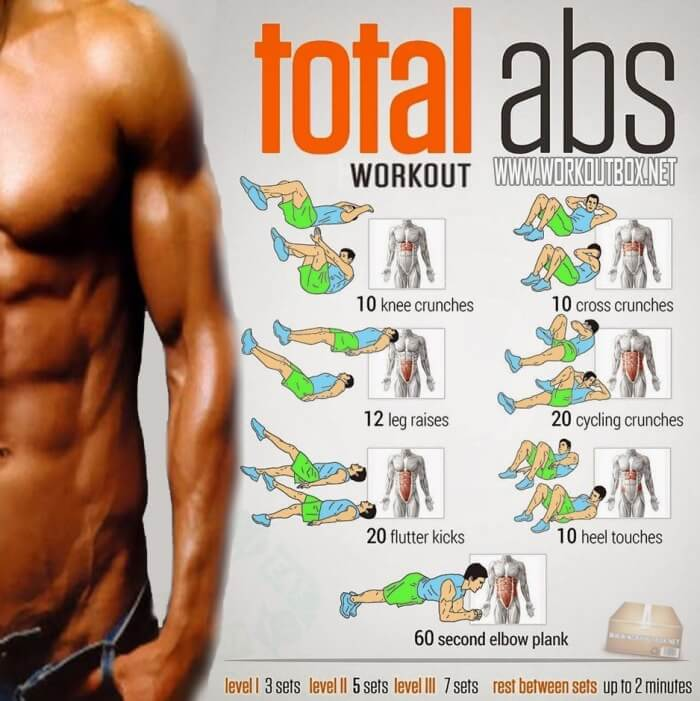 Total Abs Workout Routine Total Abs Workout Sixpack