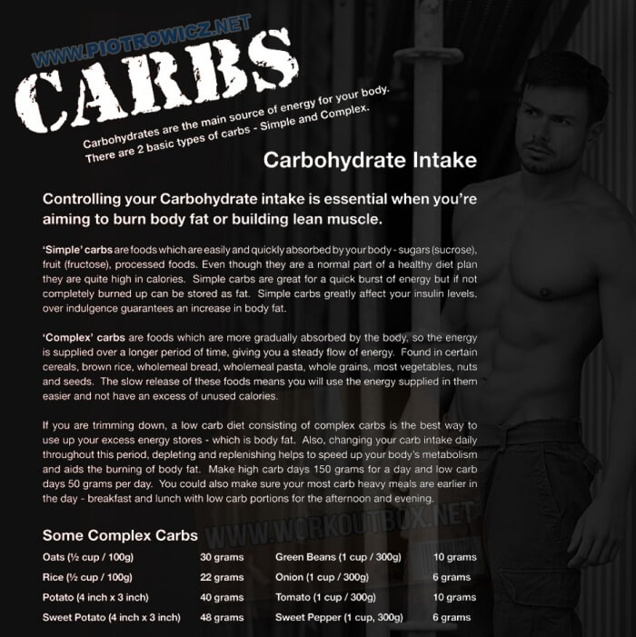 A Simple Carbs Guide - Daily Carbohydrate Intake Healthy Fitness