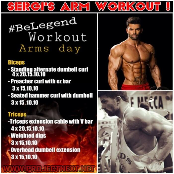 Sergi Constance Arm Workout Be Legend Arms Day Biceps Triceps