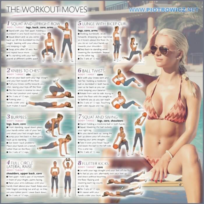 The Workout Moves - Full Body Female Training Plan To Be Fit Abs