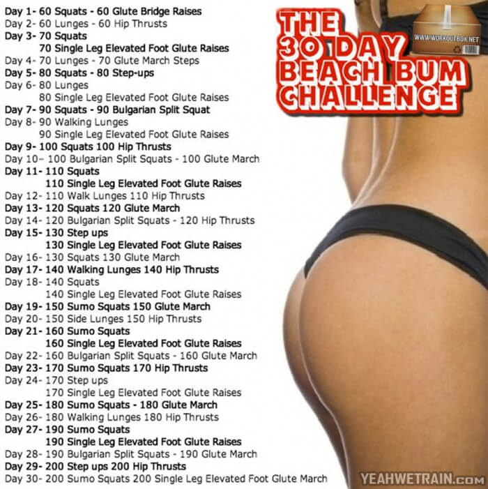 The 30 Day Beach Bum Challenge - Fitness But Leg Ab Workout Arms