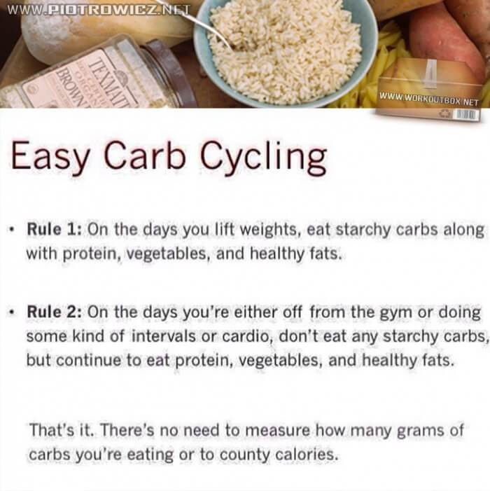 Easy Carb Cycling - Two Rules For More Success Healthy Fitness