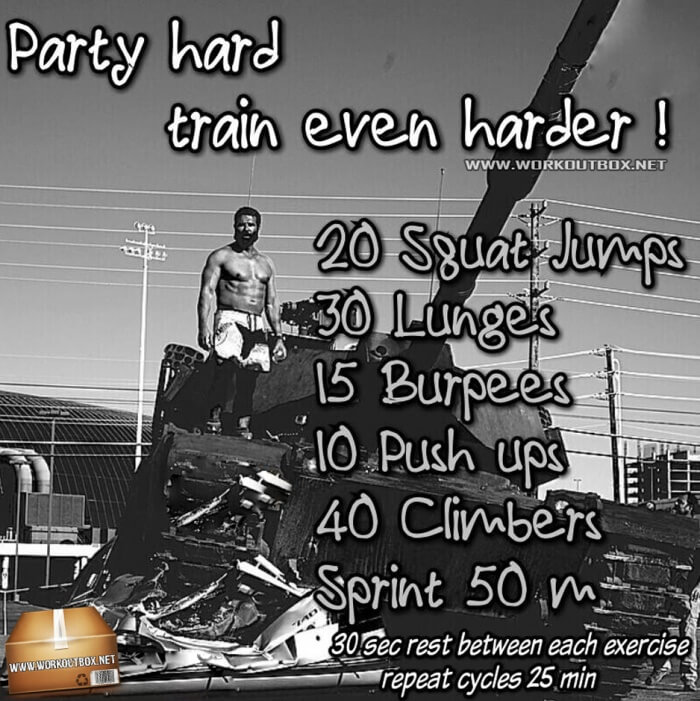 Party Hard Train Even Harder Workout ! Heavy HIIT Workout Plan