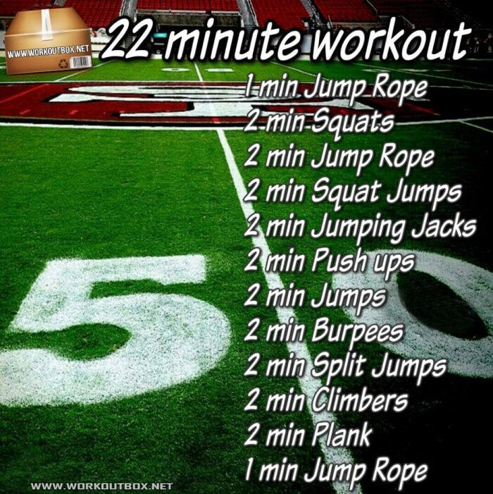 22 Minute Workout - Hardcore HIIT Training Plan For A Fit Strong