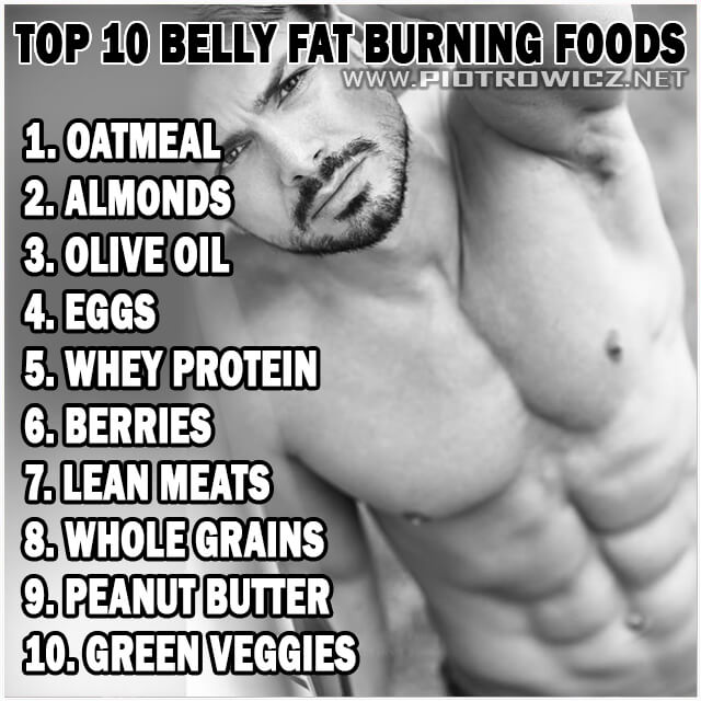 Top 10 Belly Fat Burning Foods - Healthy Fitness Tips Piotrowicz