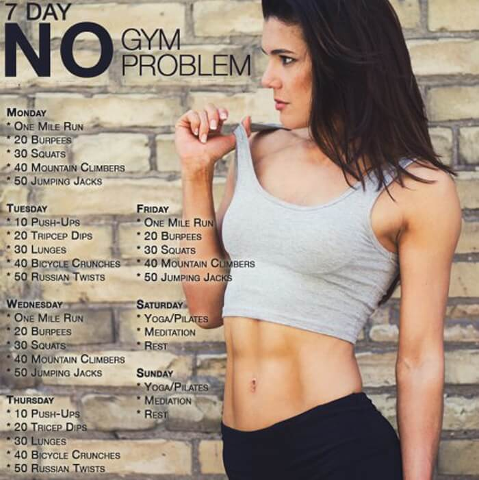 7 Day No Gym Problem - Sexy At Home Workout Plan Fitness Strong