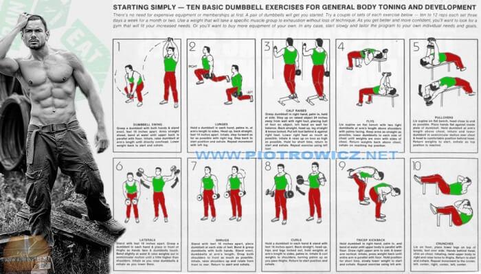 Ten Basic Dumbbell Exercises For General Body Toning Development