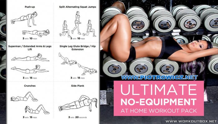 Ultimate No-Equipment At Home Workout Pack - Healthy Fitness Abs
