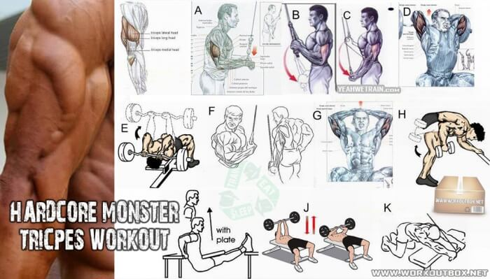 Hardcore Monster Triceps Workout - Best Fitness Exercises Arms
