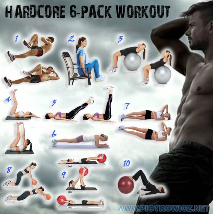 Hardcore 6-Pack Workout - Sexy Sixpack Training Abs 8Pack Belly