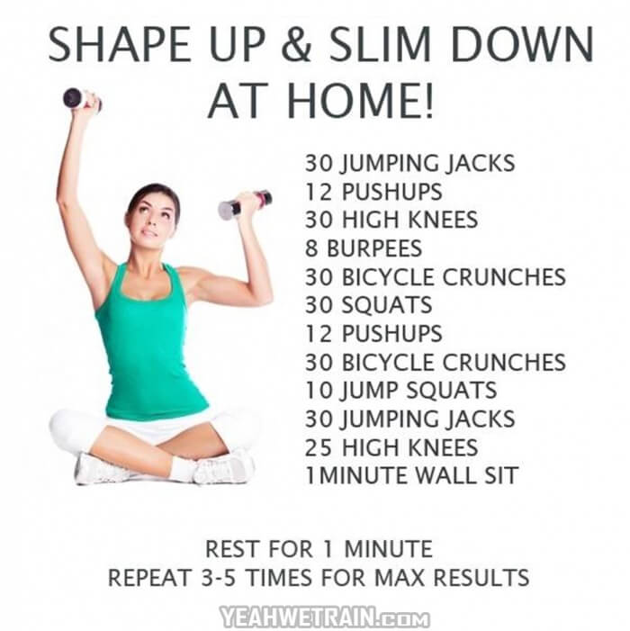 Shape Up & Slim Down At Home - Sexy Body Workout Female Training