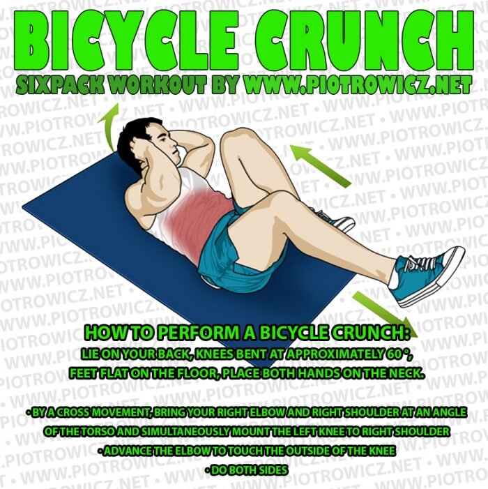 Bicycle Crunch - Sixpack Workout Ab Training Exercises Core Body