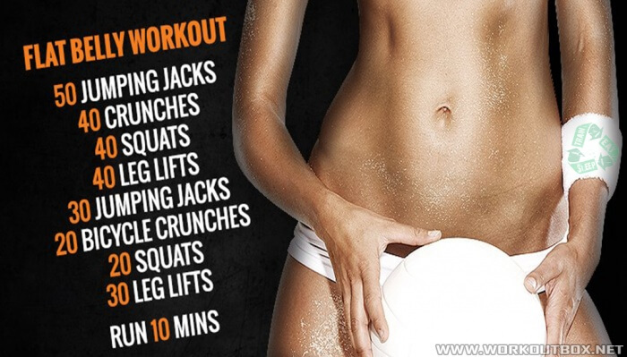 Flat Belly Workout - Sexy Healthy Body Fitness Training Plan Abs