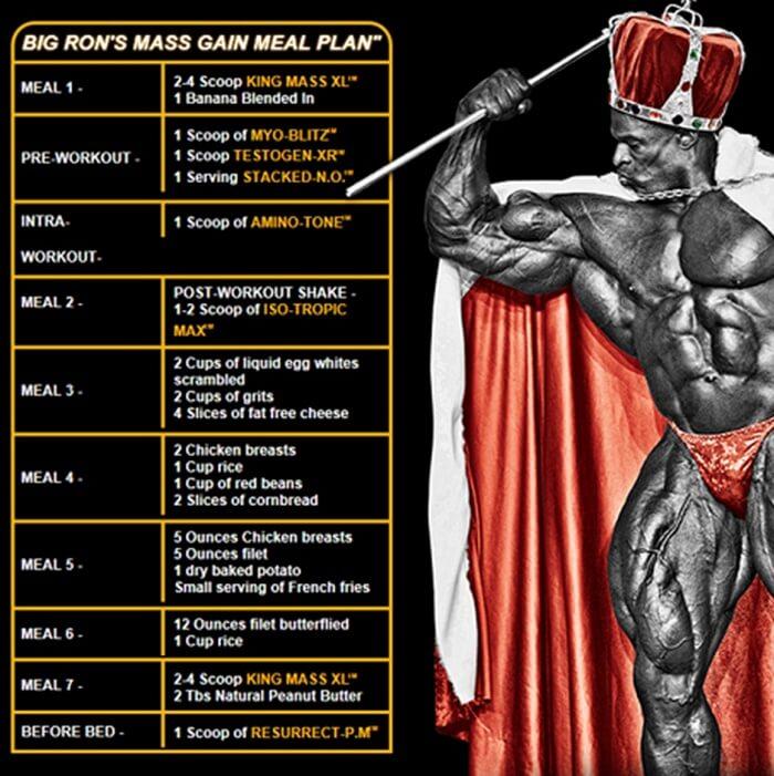 bodybuilding diet plan for mass