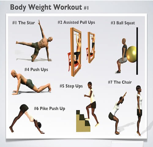 Body Weight Workout #1 - Healthy Fitness Workout Plan StrongBody