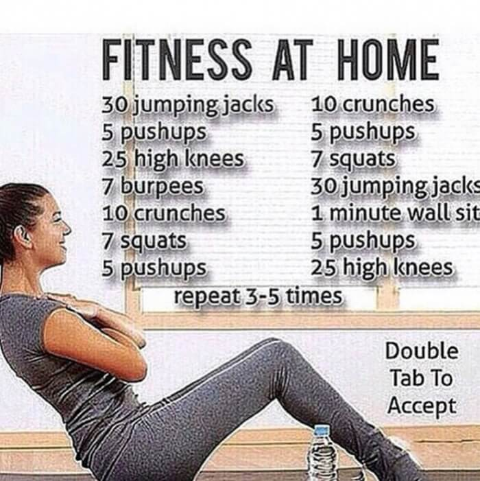 Fitness At Home - Training Routine Sixpack Workout Plan Health