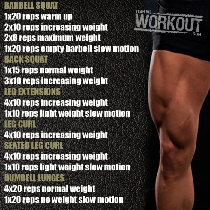 Stronger Legs Workout - Health Fitness Training Plan Leg Butt Ab